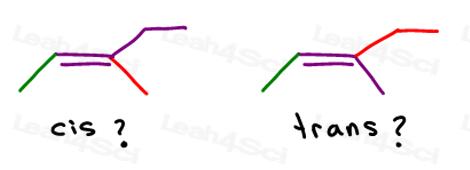 3-methyl-2-pentene cis or trans