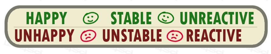 Cis Trans tutorial Happy Stable Unreactive vs Unhappy Unstable Reactive