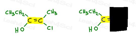 E-Z naming step 1 double bond