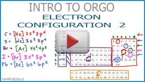 Electronic Configuration Organic Chemistry shortcut Noble Gas KerneL video Leah4sci