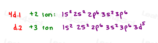 Full electron configurations for practice with charges