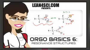 Orgo basics resonance structures video tutorial by Leah4Sci