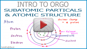 Subatomic Particles and Atomic Structure in Organic Chemistry Leah4sci Video
