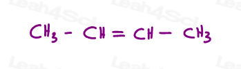 Alkene linear does not imply cis or trans