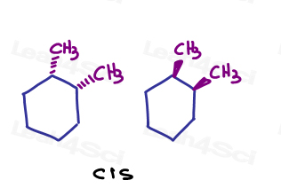 Cis 1-2-dimethylcyclohexane