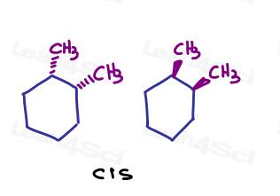 Cis 1-2-dimethylcyclohexane