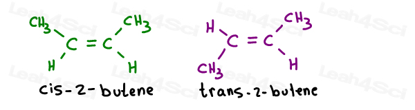 Cis 2-butene and trans 2- butene