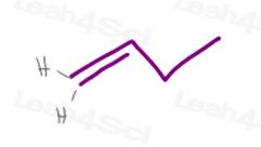 Cis trans alkene with terminal pi bond
