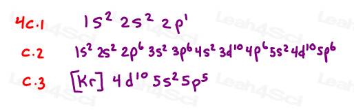 full Electron configurations for practice
