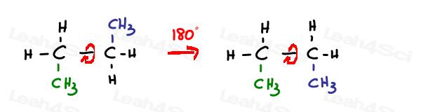 Molecule with sp3 sigma bond has 130 rotation