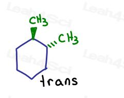 Trans 1-2-dimethylcyclohexane