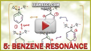 Benzene Resonance step by step in Video Tutorial Series by leah4sci