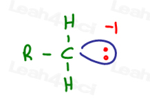 Carbocation has a negative charge or electron that is physically there like FOOD