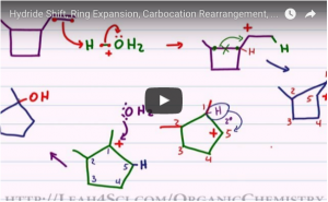 Ring Expansion via Hydride Shift and Methyl Shift Video Tutorial