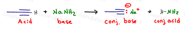 Deprotonate the terminal alkyne via acid base reaction to form a good nucleophile
