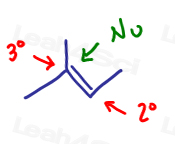 Markovnikov's rule nucleophile adds to more substituted carbon