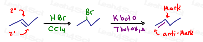 Moving reactivity so that you can react a different portion of the molecule in organic synthesis problems is a good alternative to keep in mind