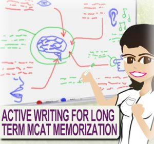 Active Writing for Long Term Memorization for MCAT studying