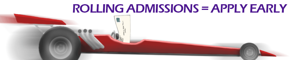 Rolling Admissions = apply early for Med School