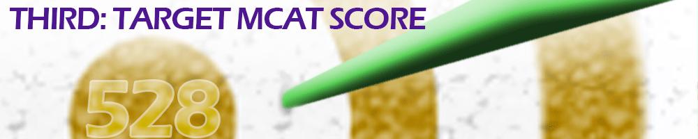 Third- Target MCAT Score