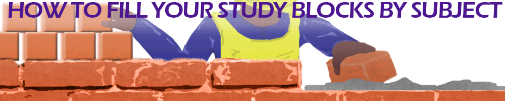 How to Fill your Study Blocks