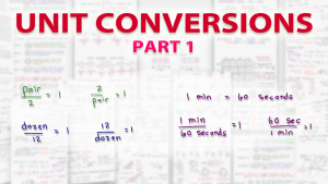 Dimensional Analysis Unit Conversions on the MCAT