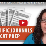 Scientific journals for MCAT prep video by Leah4sci
