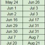 2018 MCAT Test Date Calendar Schedule