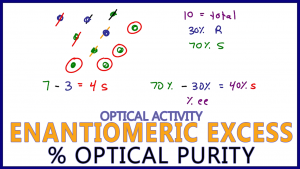 Enantiomeric Excess Percent Optical Purity Calculations Stereochemistry percent excess by Leah4sci