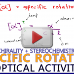 Specific Rotation in Optical Activity in Chirality & Stereochemistry Video Tutorial Series by Leah4sci