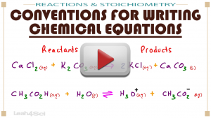 Conventions for Writing Chemical Equations MCAT General Chemistry by Leah Fisch