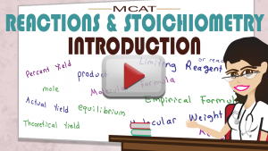 Introduction to Reactions and Stoichiometry in MCAT General Chemistry Tutorial Video by Leah Fisch