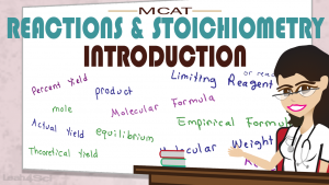 Introduction to Reactions and Stoichiometry in MCAT General Chemistry Tutorial Video by Leah4sci