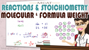 Stoichiometry & Reactions Molecular Weight Formula Weight MCAT Leah4sci
