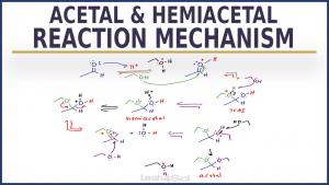 Acetal & Hemiacetal Reaction Mechanism Video Leah4sci
