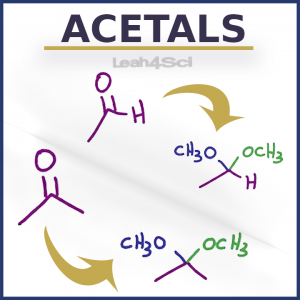 Acetals Ketals Hemiacetals Hemiketals in Organic Chemistry Video Tutorial Series By Leah4sci