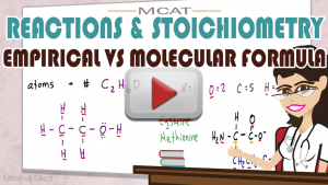 Empirical Formula vs Molecular Formula Calculations for the MCAT by Leah4sci