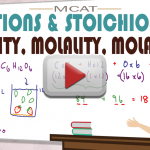 Molarity Molality Molar Mass Shortcut MCAT General Chemistry by Leah Fisch