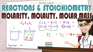 Molarity Molality Molar Mass Shortcut MCAT General Chemistry by Leah4sci