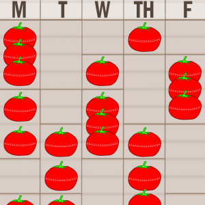 Pomodoro method for Premeds MCAT students sample schedule by Leah4sci