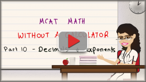 MCAT Math Trick for Raising Decimals to Exponents No Calculator MCAT Leah Fisch