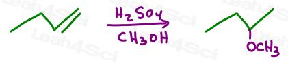 Acid Catalyzed Hydration in Alcohol yields ether