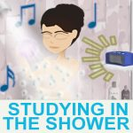 Study MCAT Organic in the Shower with speakers Leah4sci
