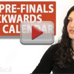Orgo Prefinals Backwards Study Calendar Leah4sci