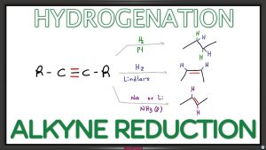 Alkyne Reduction Hydrogenation Reaction and Mechanism Leah4sci