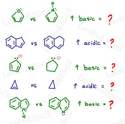 aromatic acidity practice questions