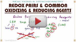 Redox Pairs and Common Oxidizing and Reducing Agents in MCAT General Chemistry by Leah4sci