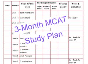 3 month mcat study plan leah4sci