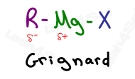 Grignard Reagent -R-Mg-X Leah4sci