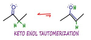 KET Keto enol tautomerization reaction and mechanism leah4sci